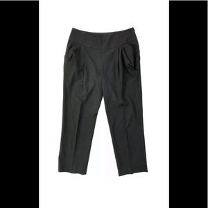 Michael Kors Black Cropped Straight Leg Pants
